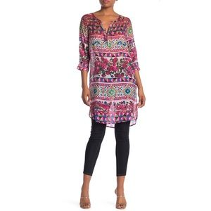 Aratta Jungle Island Tunic Top Mixed Print Floral
